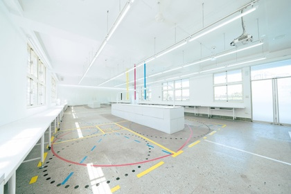 The classroom was redesigned for a high school in Taipei